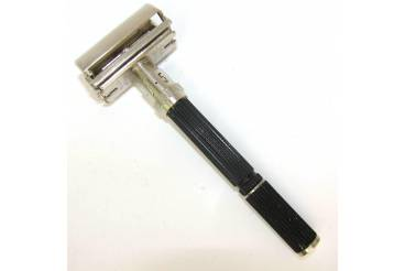 Gillette Super Adjustable Black Handles Vintage Safety Shave Razor Boxed 1969