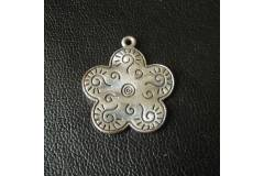 Flower Design Question Mark Vintage Pendant Baby Amulet Jewelry 1970s