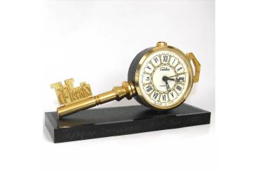 Moscow Key Vintage Alarm Clock SLAVA Soviet USSR 1970s