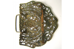 PAFTA Antique Women Belt Buckle Folk Costume Jewelry