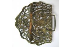 PAFTA Antique Women Belt Buckle Folk Costume Jewelry