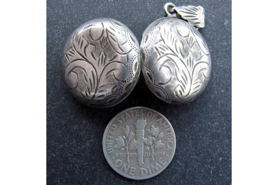 Sterling Silver Antique Locket Antique Sterling Silver