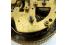 WEHRLE German Vintage Alarm Clock Brass Filigree Roman Dial