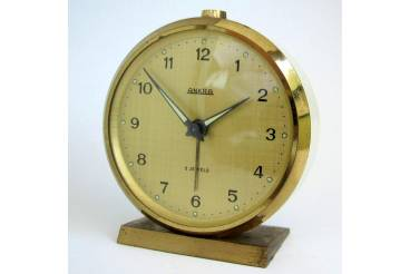 vintage alarm clock ankra 1950s one spring germany works
