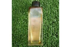 Vintage Perfume Bottle Empty Glass Black Bakelite Cap JACKY Label Used
