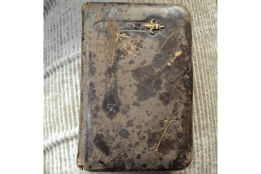 Antique Prayer Book Brown Leather Cover Jesus Mein Alles Germany Gebetboch Munich 1900 Roman Katholic Christian