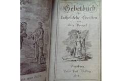 1815 Antique Prayer Book Red Leather Cover Germany Gebetboch Augsburg 1815 Peter Paul Bolling
