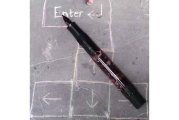 Blown Glass Nib Marbled Barrel Antique Fountain Pen Parts Spares Repair