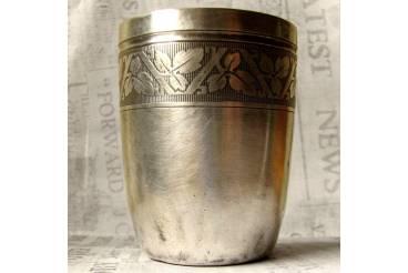 Vintage Sterling Silver Plate Wine Glass Cup Goblet Shot Party Drink Hallmark Vines Pattern