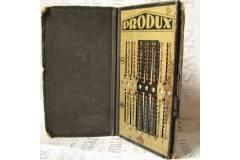 Produx Vintage Mechanical Calculator Addiator Subtractor Leather Case