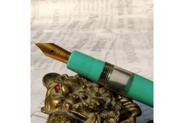 NOS Green Vintage Fountain Pen Piston Filler Bulgaria