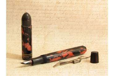 DURAN 4 - Marbled Fountain Pen - Needs Bladder - No Clip - Restoration Project