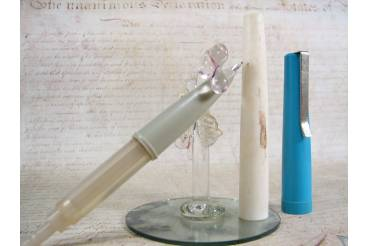 Blue Student Starter Vintage Fountain Pen Piston Filler Soviet Union USSR 1980s