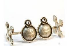 Seampunk Vintage Clip On Ladies Earrings Handmade Woman Costume Jewelry