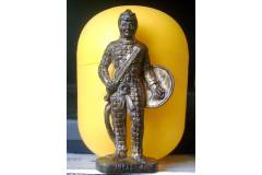 Kinder Surprise Vintage Metal Soldier Figurine INCAS-4 Peru Brass