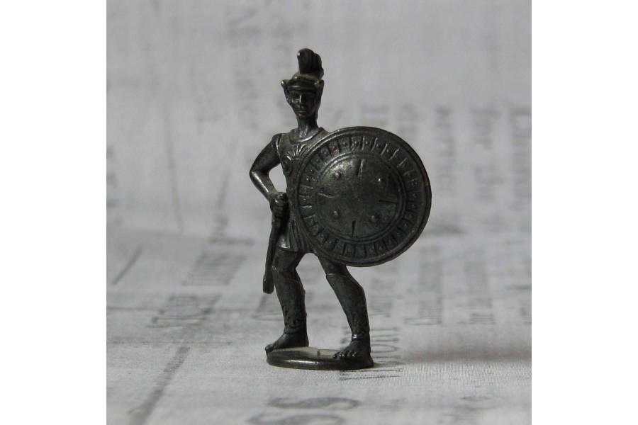 Kinder Surprise Vintage Metal Figurine Greek Gladiator Sparta Warrior