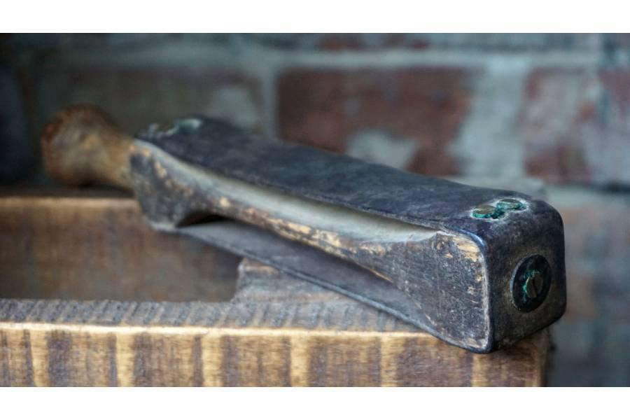 Vintage Straight Shave Razor Leather Strop Belt Sharpening Honing Barber Tool