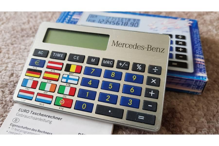 Mercedes Benz Vintage EURO Calculator Automotive Memorabilia Boxed New Old Stock Advertising