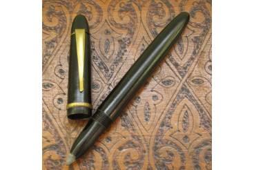 Vintage No Ballpoint Pen Black Bakelite Brass Clip PAPYRUS Boxed 1950s