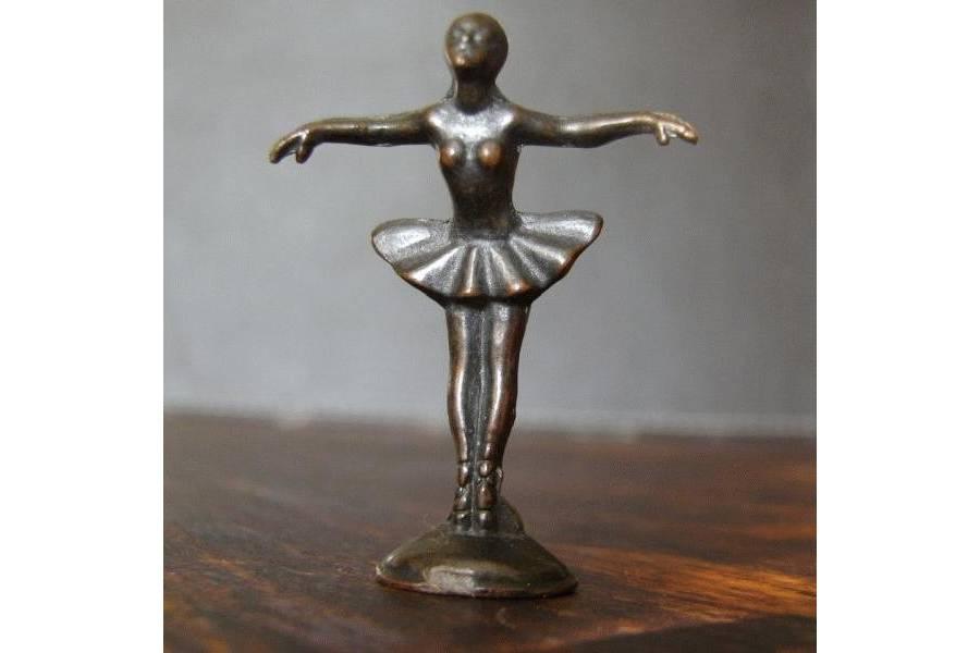 Balerina Vintage Kinder Surprise Metal Figurine
