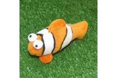 "Clownfish Plush Toy Key Chain Ring Loop Charm 3"""