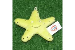 "Star Fish Plush Toy Key Chain Ring Loop Charm 3"""