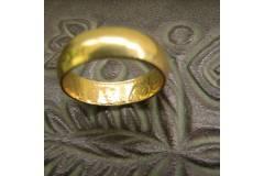 Vintage Wedding Ring Band Old Serbian Brass Coin Dinar Kraljevina Jugoslavija NOS US Size 9 1/8