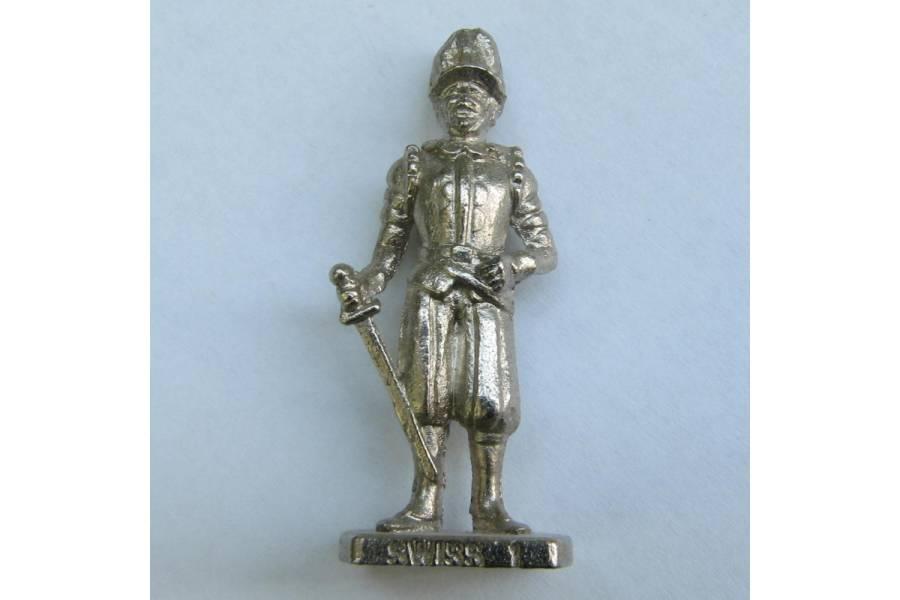Swiss 1 Kinder Surprise Metal Soldier Figurine Collectible 4cm High