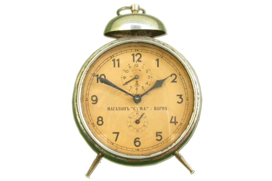 Old Alarm Clock Png