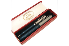 Blue SOYUZ Vintage Fountain Pen and Mechanical Pencil Boxed Set