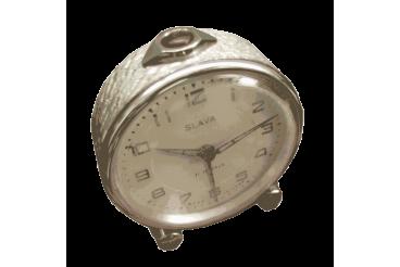 Vintage Alarm Clock Mop Coated Dial Slava USSR 1970s