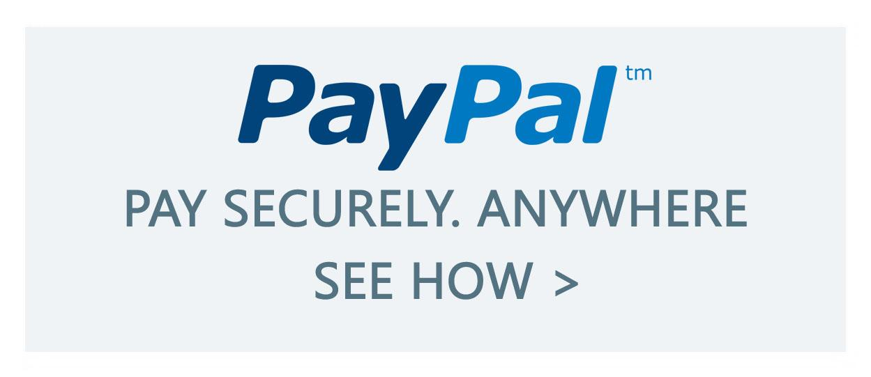 Shop Securely. Use PayPal